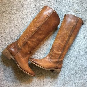 Frye Tall Heeled Leather Riding Boots